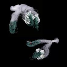 2 шт./партия рыболовные сети Сетчатое найлоновое Моноволокно Gill аксессуар поплавок Рыбная ловушка морской пресноводный чистая 15 м 8 м