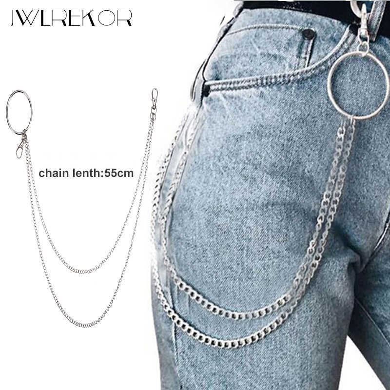 Hiphop Long Metal Wallet Chain Leash Pant Jean Keychain Ring Clip Men's Hip Hop Jewelry