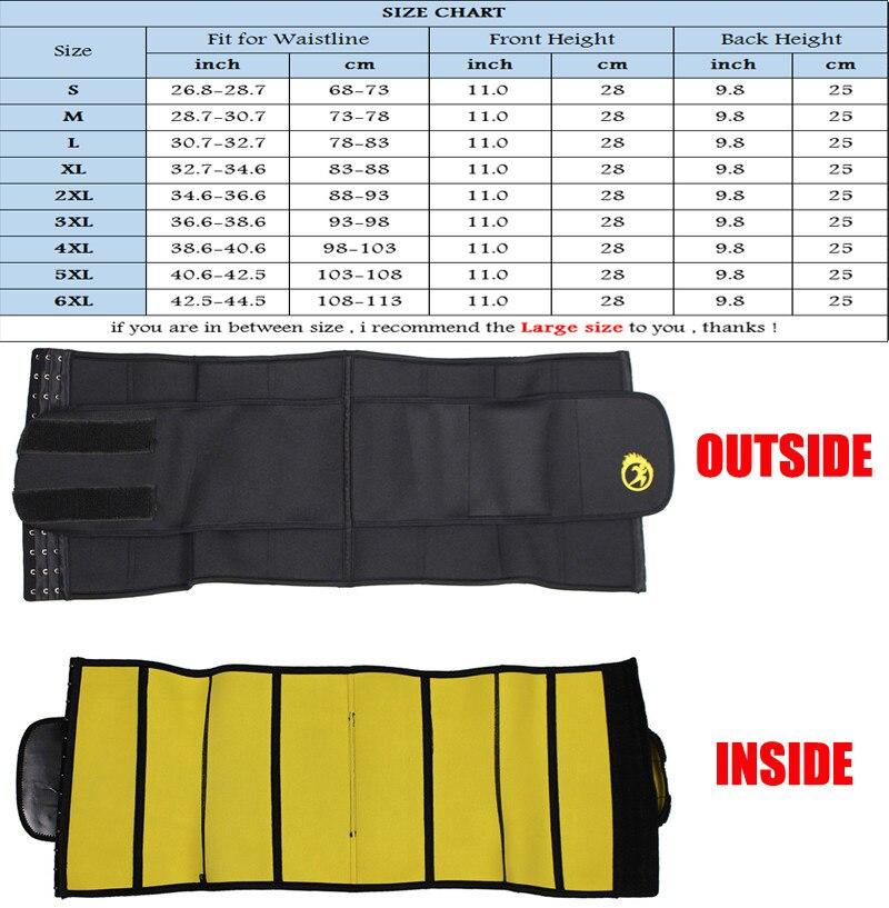 Image 5 - NINGMI S 6XL Waist Trainer Women Slim Waist Belts Tummy Body Shaper Corset Slimming Underwear Neoprene Shapewear Strap Plus Size-in Waist Cinchers from Underwear & Sleepwears