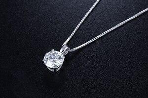 Image 3 - Poésie de juif magasin rond argent Moissanite pendentifs 1ct D VVS luxe Moissanite mariage pendentifs pour les femmes
