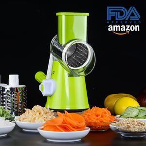 Creative 3 In 1 Vegetable Mandoline Slicer Rapid Rotary Drum Grater Nut Crusher Cutter Veggie Peeler Spiralizer Cheese Chopper