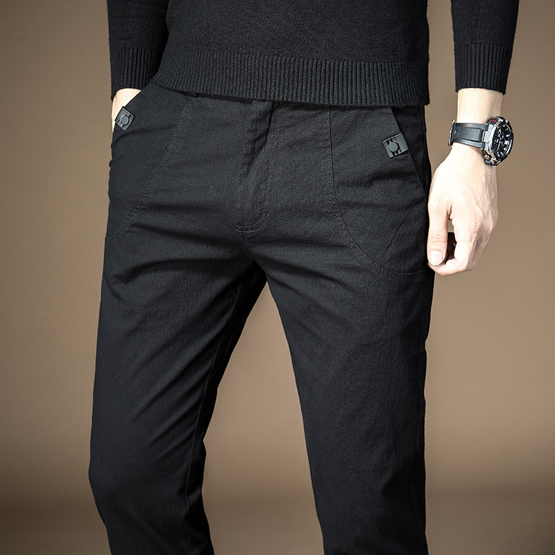 New Style Autumn & Winter Casual Pants Men's Slim Fit Light Straight-leg Pants Men's Korean-style Trend Sports Men Versatile Tro