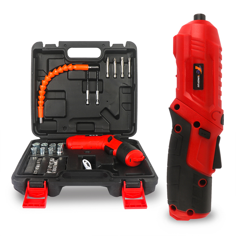 4.2V Electric Screwdriver Rechargeable Cordless Power Drill Screw Driver Kit Maximum Screw Diameter ABS Makings