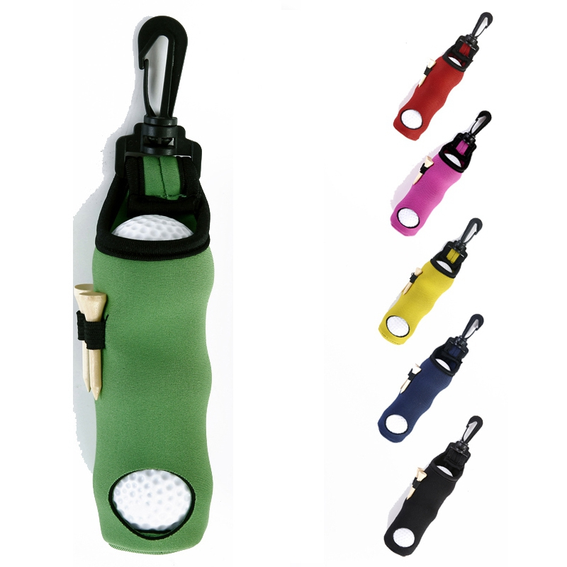 Portable Small Golf Ball Bag Golf Tees Holder Carrying Storage Case Rubber Pouch With Swivel Waist Belt Clip TD01