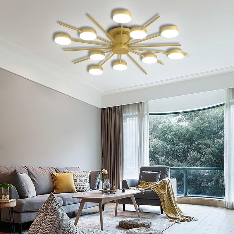 Купить с кэшбэком Nordic LED Pendant Light, Creative Personality Living Room Ceiling Lamp, chandelier Led Hanging Lamp forbedroom dining room Deco