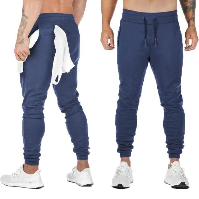 2020 New Cotton Pants Running Tights Men Sporting Leggings Workout Sweatpants Joggers For Men Jogging Leggings