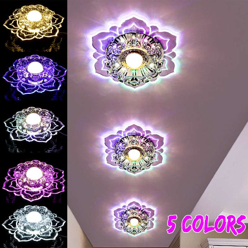 3W 5W Modern Crystal LED Ceiling Light Wall Sconce for Home Decoration Balcony Lamp Porch Light Corridors Light Fixture