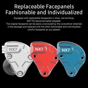 Image 3 - NICEHCK NX7 פרו 7 נהג HIFI אוזניות 4BA + כפולה CNT דינמי + פיזואלקטריים קרמיקה היברידי להחלפה מסנן Facepanel IEM DJ