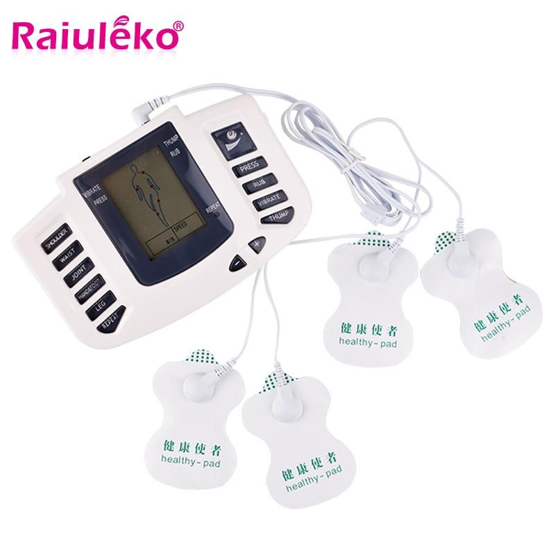 Tens Акупунктура Ems массажер электро стимуляция мышечный Стимулятор электростимулятор физиотерапия машина 16 подушечек