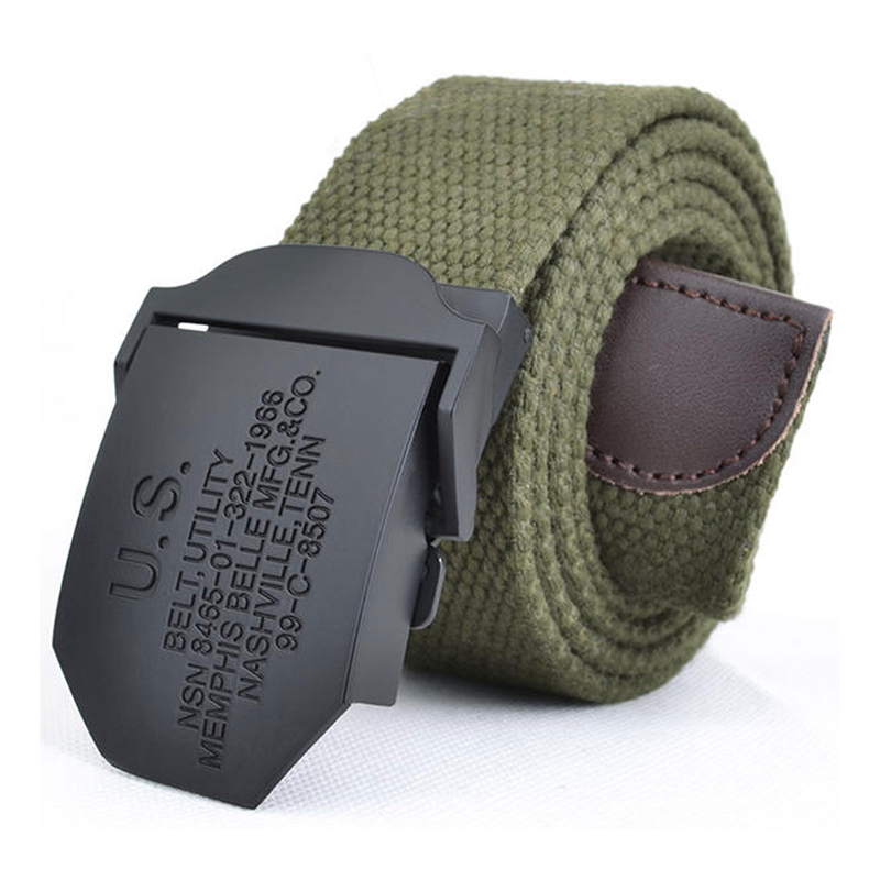 Multiple Colour Canvas Belt Men's Outdoor Tactical Belt Special Forces US Belt Fashion Style Army SWAT Metal Buckle Jeans Belt