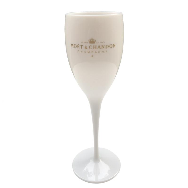 Plastic Orange White MOET E CHANDON Wine Glass ICE IMPERIAL Colored Wine Goblet