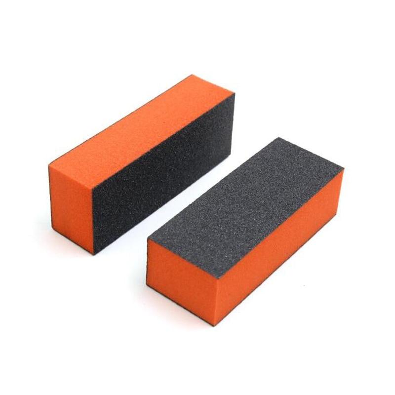 10pcs/set 4 Side Nail Art Polish Sanding Buffer Orange Nail Art Tips Acrylic Buffer Block Files DIY Manicure Sanding CASE OF 500