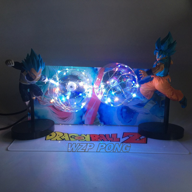 21 см Dragon Ball Son Goku vs Vegeta светодиодное украшение фигурка куклы игрушки ПВХ фигурка Коллекция Модель игрушки подарок