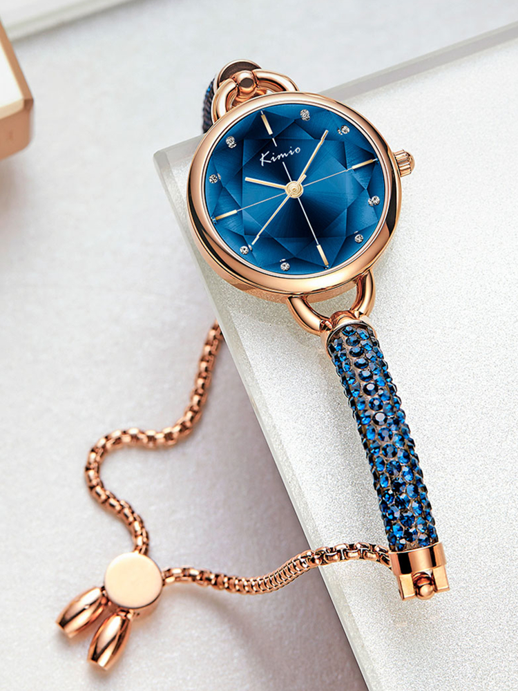 KIMIO Crystal Watch Bandage Diamond Bracelet Women Brand Luxury New-Arrivals