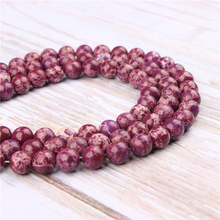 Wholesale Purple Emperor Natural Stone Beads Round Beads Loose Beads For Making Diy Bracelet Necklace 4/6/8/10/12MM
