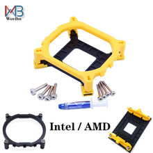 CPU кулер вентилятор кронштейн держатель радиатора LGA 775 1150 1151 1155 1156 1366 2011 AMD AM4 общая опорная база для Intel