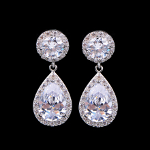 купить UILZ Classic Water Drop Women Wedding Jewelry Big Red Cubic Zircon Pave Drop Earrings For Party Gifts UE501 в интернет-магазине
