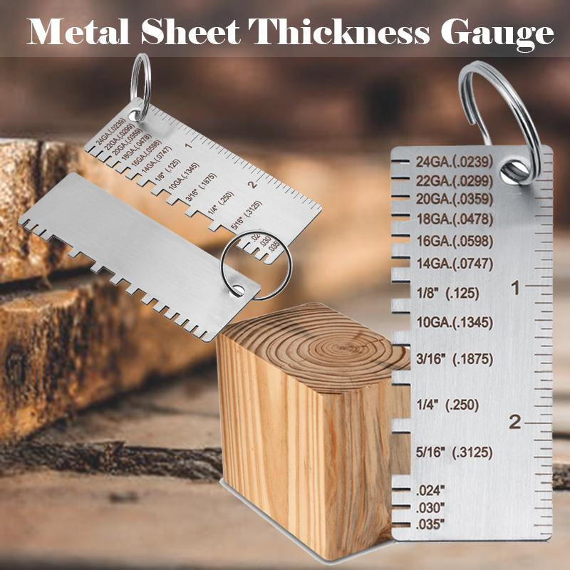 Stainless Steel Metal Sheet Thickness Gauge Welding Gage Plated Size Tester