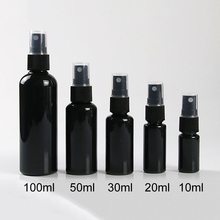 Black Spray Bottle 10ml 20ml 30ml 50ml 100ml Empty Plastic Perfume Water Sprayer Container Cosmetic Makeup Face Toners Packaging 1piece lot 30ml 50ml 100ml new type of 50ml glass colour spray bottle tlc color rendering spray bottle with dribbling ball