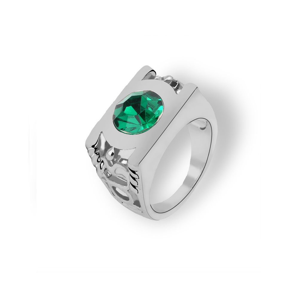 US Size 7 2pcs Sparkling Natural Gemstone Ring Set Copper-Plated Silver Micro-Embellished Emerald Ring for Women Girls