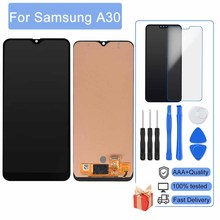 5Pcs/Lot AAA No Dead Pixel 6.4 Display For Samsung Galaxy A30 A305F A305A LCD With Frame Display Touch Screen Digitizer Assembly
