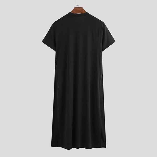 Футболка incerun мужская с круглым вырезом модная уличная одежда