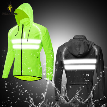 Wolfbike Thin Hooded Caps Bike Jackets Men Windproof Reflective Water Rain Repellent Running Windbreaker Coats Cycling Jacket fashion skulls ghost devil jackets men women couple funny joker windbreaker windproof thin pocket hooded jacket