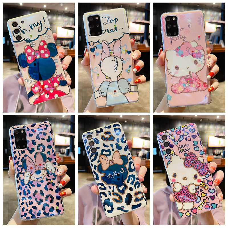 Disney certified phone case cute cartoon for Samsung S21 phone case female S10/S20fe/Note20 Mickey phone cover