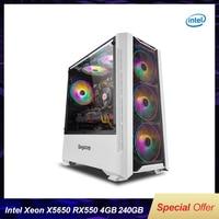 Funda de ordenador para videojuegos con Intel Xeon X5650, 6 núcleos, 12 hilos, LGA 1366/750TI, 2G/16G RAM, 240G SSD, para LOL/CSGO