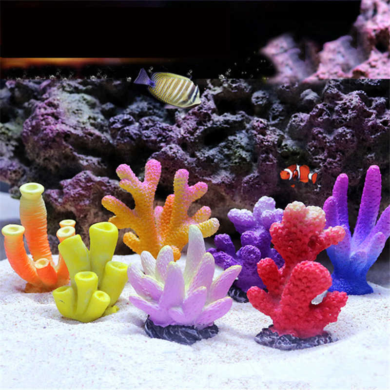 Tinsow Resin Aquarium Coral Ornaments Artificial Coral Reef Decor for Small Fish Tank /& Landscape Decoration