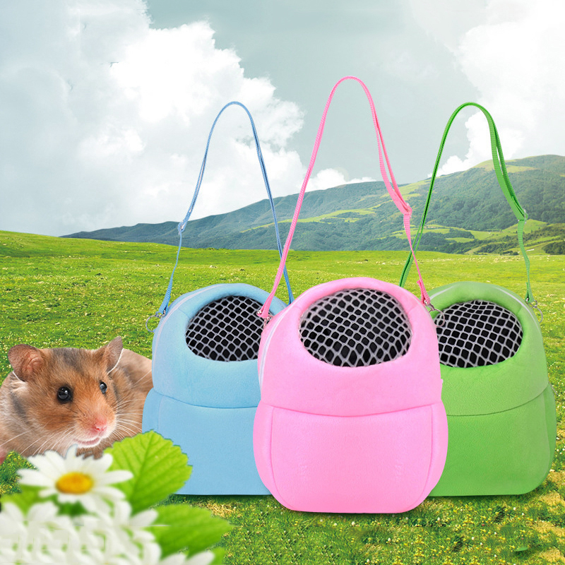 Small Pet  Travel Carrying Bag Hamster Squirrel Soft Warm Outdoor Sleeping Bag Breathable Carring Cote With Mesh Breathable