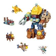 5 в 1 деформация с изображением героев «Plants vs Zombies Растения против Зомби фигурки Super Wings трансформации Робот Игрушки для Детский подарок Brinquedos