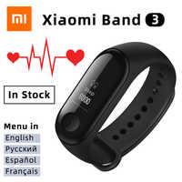 Xiao mi mi fascia 3 Intelligente Wristband Con Inseguitore di Fitness frequenza Cardiaca Moniter OLED Bluetooth BRACCIALETTO Di Sport di Acqua resistente mi fascia