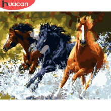HUACAN Painting By Numbers Horse Animals HandPainted Kits Drawing Canvas DIY Oil Pictures By Numbers Home Decoration Gift(China)