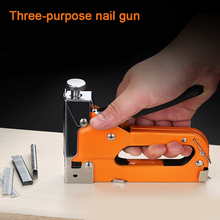 Newly 3 in 1 Door/T/U Type Heavy Duty Manual Nail Stapler Wood Hand Door Framing Finish Furniture Stapler XSD88 цены