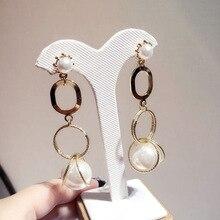 long Pearl retro temperament tassel exaggerated earring  fashion rhinestone women trendy dangle bohemian earrings