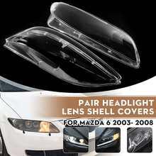 Cubierta de faro de coche para Mazda 6 2003-2008, carcasa transparente de plástico, Protector de lente de repuesto