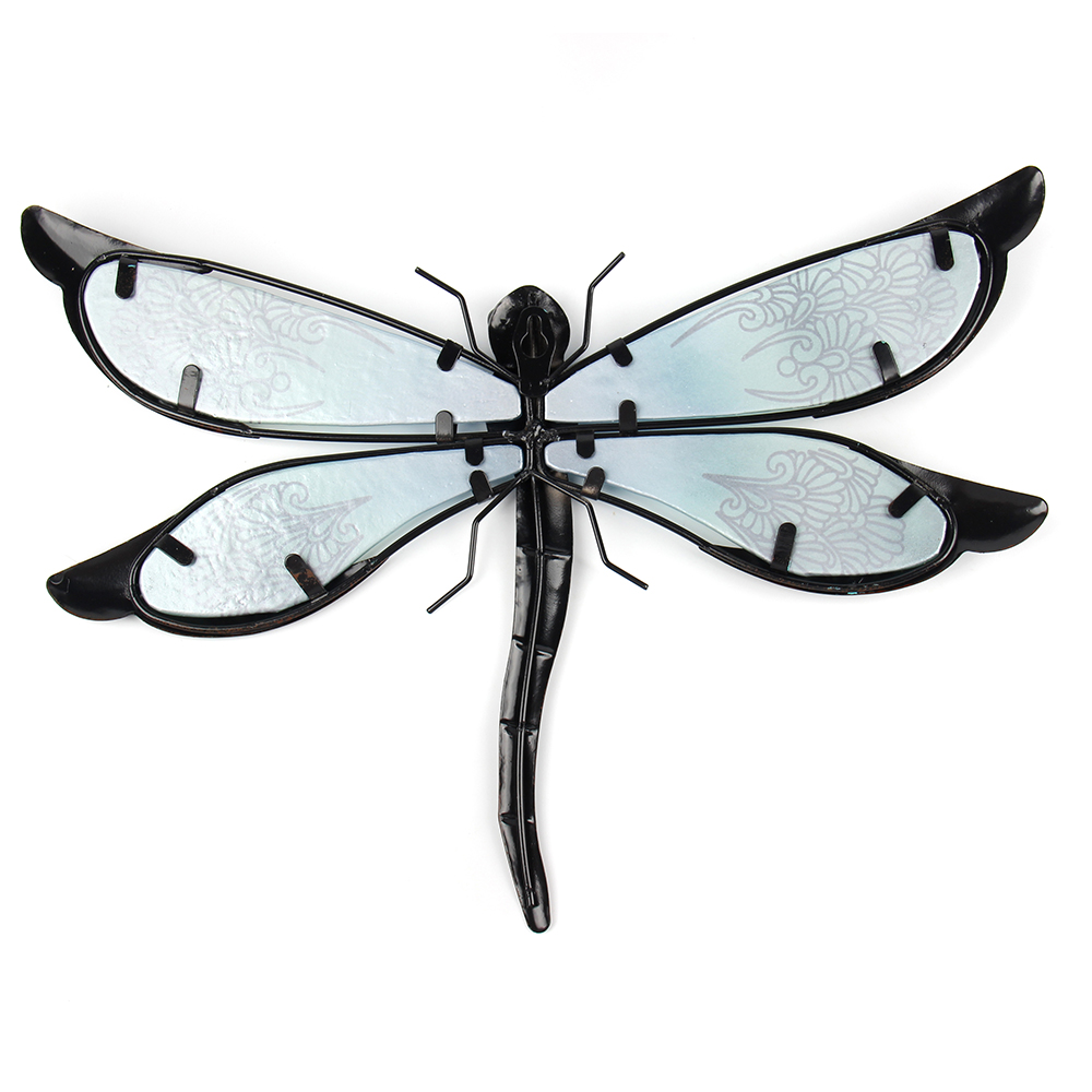 Metal Dragonfly Wall Artwork for Garden Decoration Miniaturas Animal Outdoor Statues and Sculptures for Yard Decoration 4