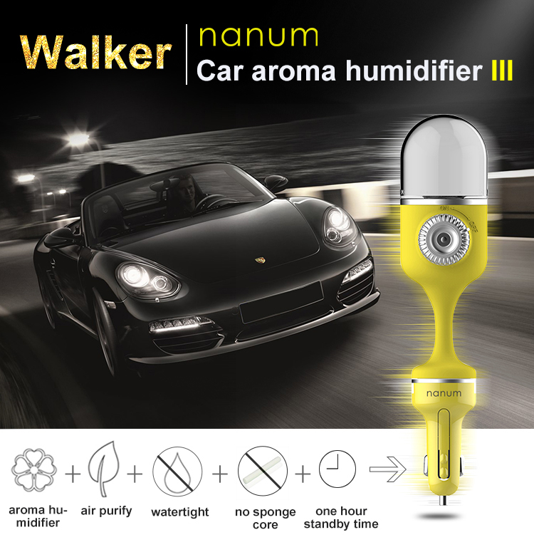 Aromatherapy Portable Cool Mist Purifier Car Air Humidifier Mini Car Aroma Essential Oil Diffuser Humidifier In Car
