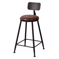 Iron High Stool Cafe Tea Shop Bar Retro Industrial Style Coffee Home Leisure Chair