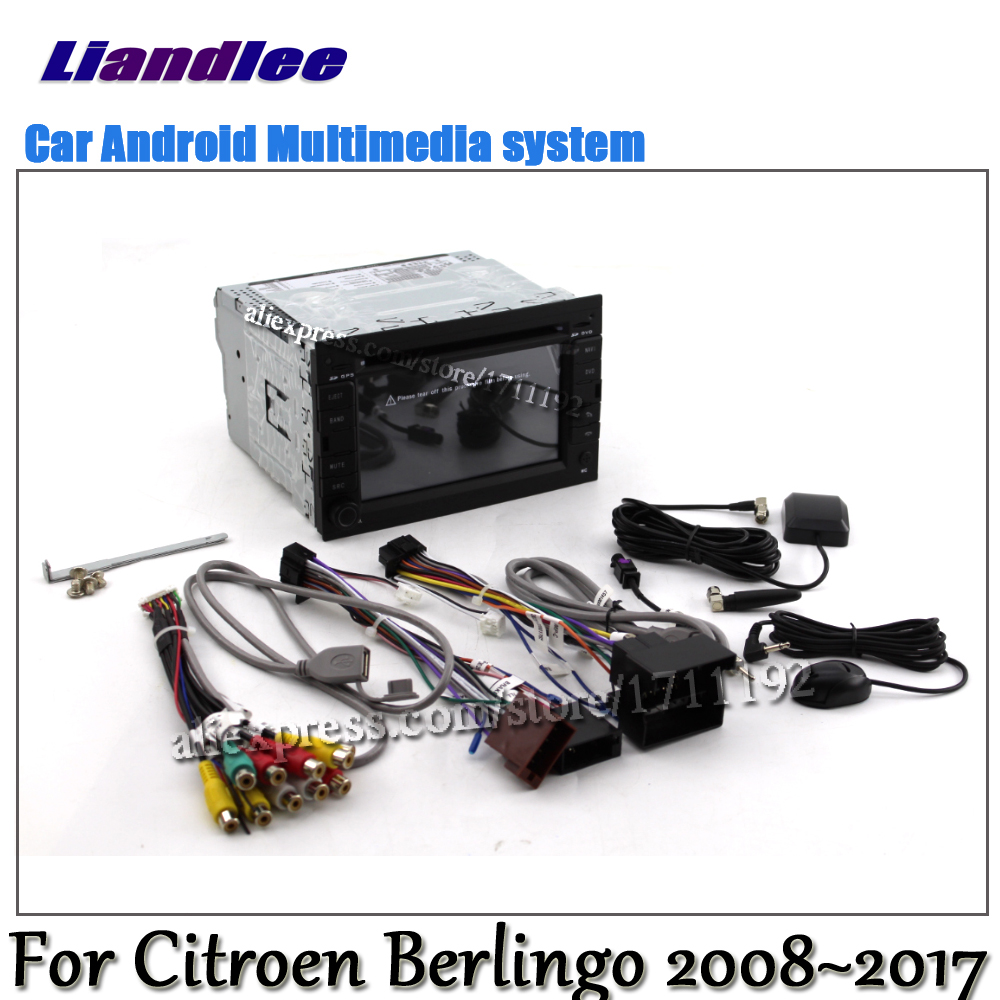 Liandlee Android 8.0 UP For Citroen Berlingo 2008~2017 Car Radio DVD Player GPS Navi Navigation Maps Camera OBD Media HD Screen