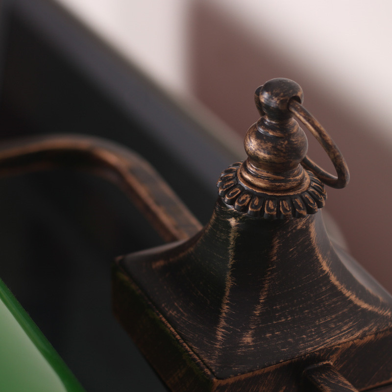 Винтажное китайское цветное стекло, пленка и телевизионная банка, настольная лампа для чтения, для учебы, для гостиной, спальни, офиса, декоративная настольная лампа - Цвет абажура: Черный
