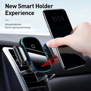 Image 3 - Baseus Qi Auto Draadloze Oplader Voor Iphone Samsung Xiaomi 15W Inductie Snelle Draadloze Opladen Auto Telefoon Houder Wirless Lader