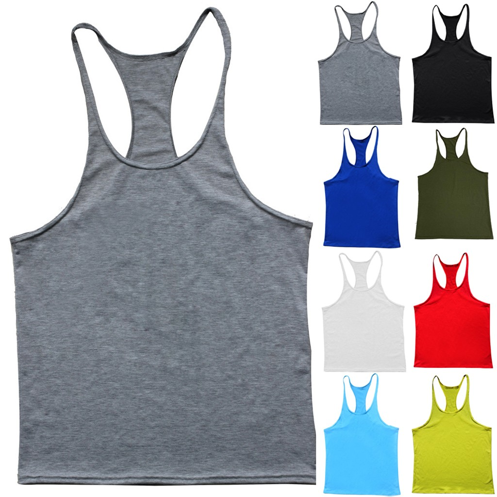 Men Tank Top Vest Summer Casual Sport Sleeveless Shirt Vest Fashion bodybuilding Man gym workout clothing debardeur homme|Tank Tops|   - AliExpress