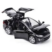 Frete grátis new1: 32 tesla modelo x model3 liga modelo de carro diecasts & veículos de brinquedo carros brinquedos do miúdo para crianças presentes menino brinquedo