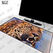 Xgz коврик для мыши с животными леопардами игровой большой геймера
