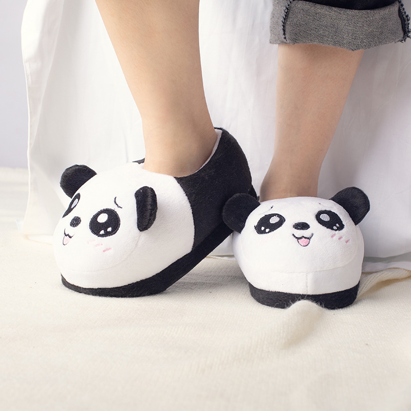 Kids Home Slippers Plush Panda Slippers women Soft Bottom Non-slip Indoor Shoes Children Cotton Shoes Boys Girls Winter Shoes 1