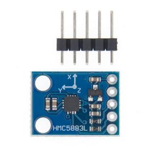 Image 2 - 50 Stks/partij GY 273 GY273 HMC5883L Module Triple Axis Kompas Magnetometer Sensor 3 V 5 V Gratis Verzending
