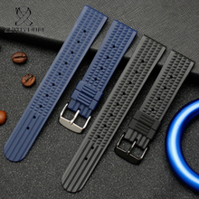 for No.5/water ghost/diving can/Abalone series Rubber Watch Band Waterproof and sweat resistance watch strap rubber 20mm 22mm