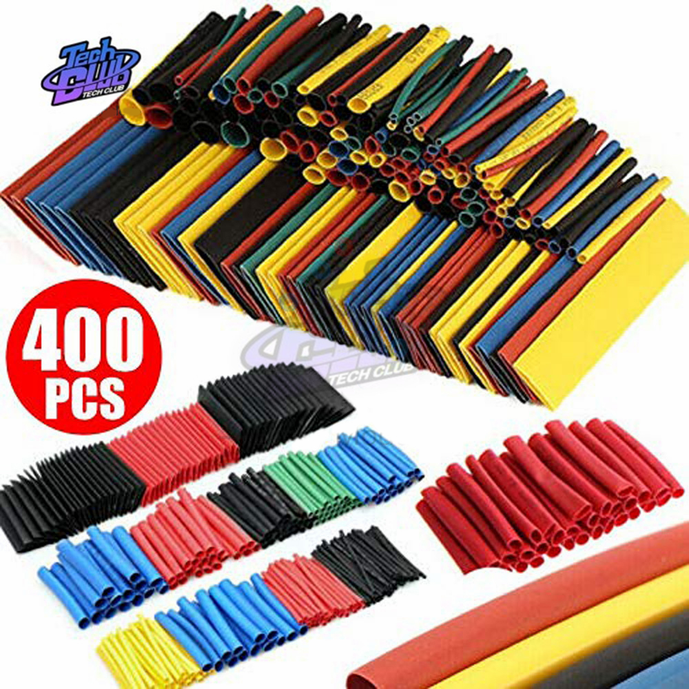 400PCS/Lot Polyolefin Heat Shrink Tube Set 8 Sizes 1-14mm 2:1 Heat Shrink Tubing Insulation Shrinkable Tube Wire Cable